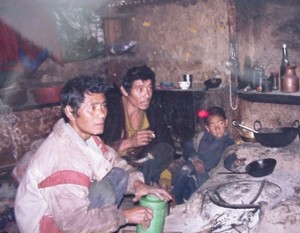 Nepalese family whom we convinced to send their children to school. Photo courtesy of BRS