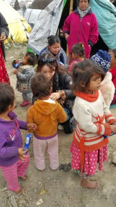 BRS volunteer visiting children in Nepal